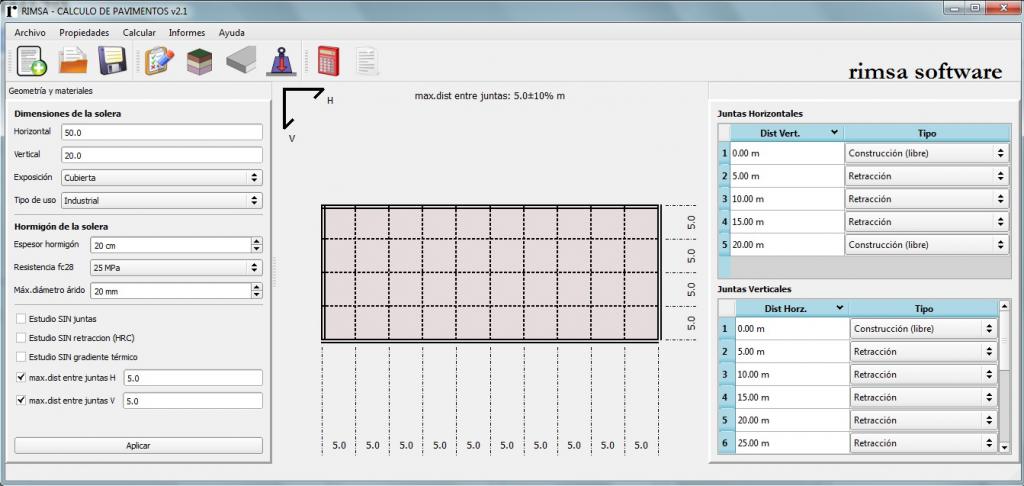 rimsa software para cálculo de dosificación de fibras para refuerzo del hormigón 2